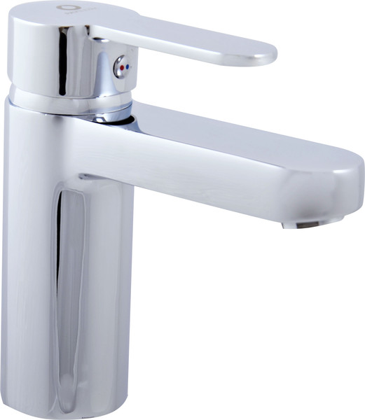 Basin lever mixer without pop-up waste