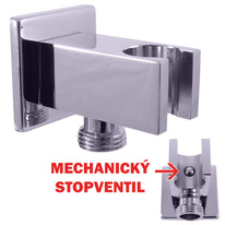 Shower holder with ''stop'' function valve