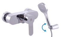 Shower lever mixer with accessories ZAMBEZI
